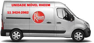 Unidade móvel assistência técnica Rheem