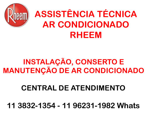 assistência técnica ar condicionado Rheem