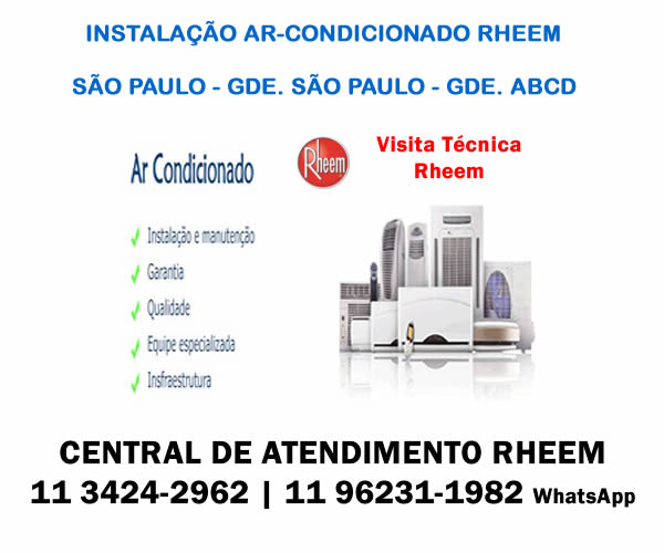 Instalação ar-condicionado Rheem