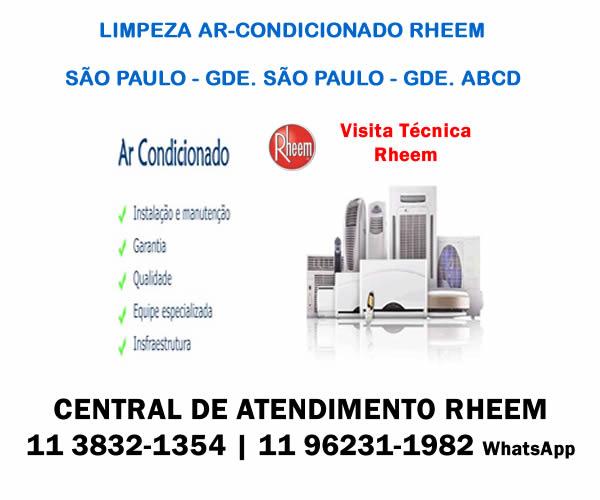limpeza ar condicionado Rheem