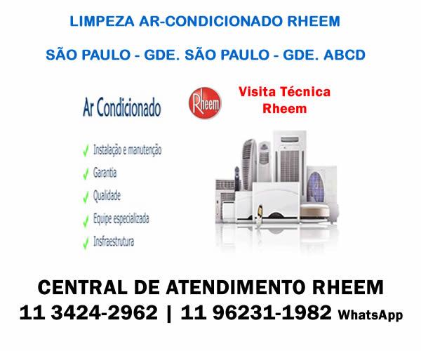 Limpeza ar-condicionado Rheem