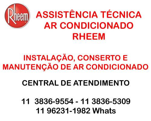 manutenção ar-condicionado rheem são paulo