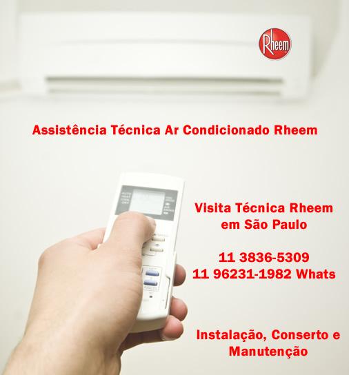 visita técnica ar-condicionado rheem